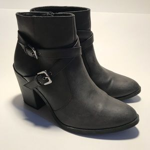Faded Glory Charcoal Gray Ankle Boots Sz. 9